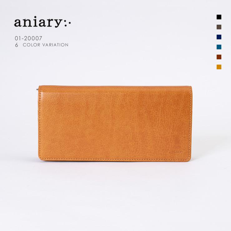 アニアリ・aniary 長財布【送料無料】Antique Leather 牛革 Wallet 01-20007