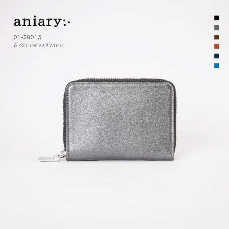 【aniary|アニアリ】Antique Leather アンティークレザー 牛革 Goods ウォレット 二つ折り財布 01-20015 [送料無料]