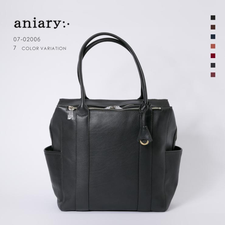アニアリ・aniary トート バッグ【送料無料】シュリンクレザー tote 07-02006
