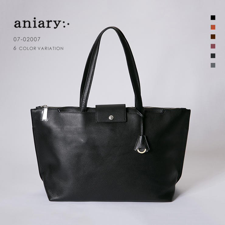 【aniary|アニアリ】Shrink Leather シュリンクレザー 牛革 Tote トートバッグ 07-02007 [送料無料]