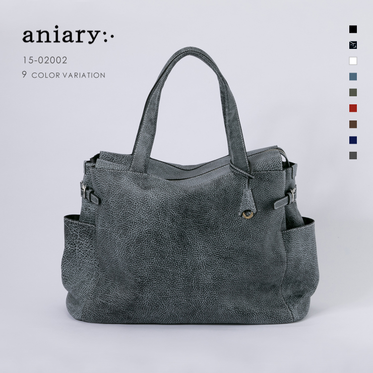 【aniary|アニアリ】Grind Leather グラインドレザー 牛革 Tote トートバッグ 15-02002 メンズ [送料無料]