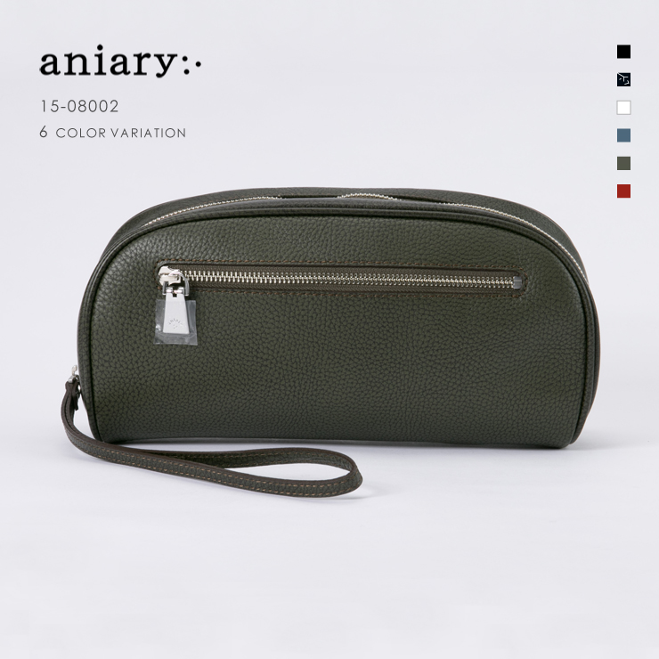 【aniary|アニアリ】Grind Leather グラインドレザー 牛革 Clutch クラッチバッグ 15-08002 [送料無料]