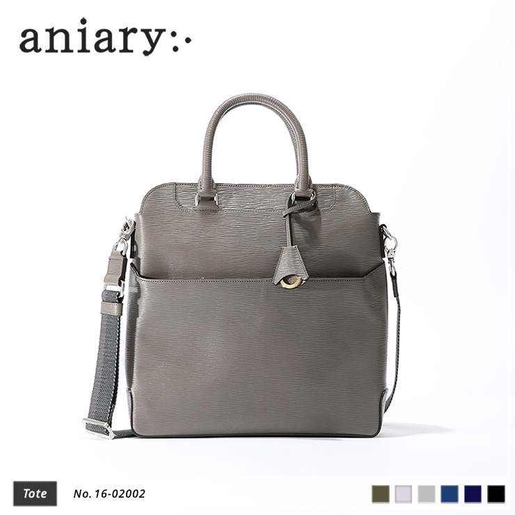 【aniary|アニアリ】Wave Leather ウェーブレザー 牛革 Tote トートバッグ 16-02002 [送料無料]