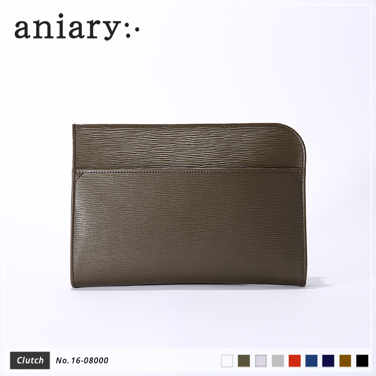 【aniary|アニアリ】Wave Leather ウェーブレザー 牛革 Clutch クラッチバッグ 16-08000 メンズ [送料無料]