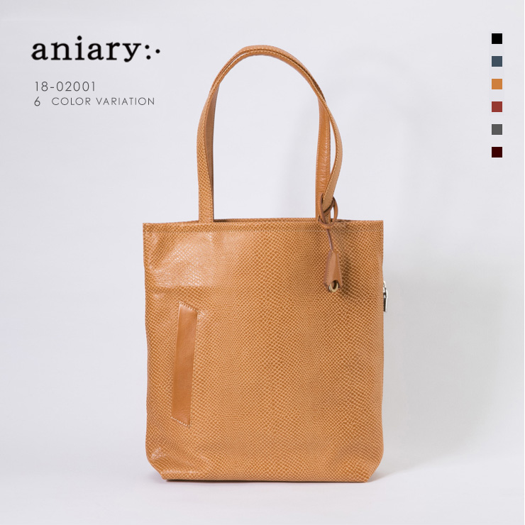 【aniary|アニアリ】Scale Leather スケイルレザー 牛革 Tote トートバッグ 18-02001 [送料無料]