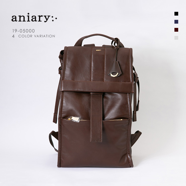 【aniary|アニアリ】Garment Leather ガーメントレザー 牛革 Backpack バックパック 19-05000 [送料無料]