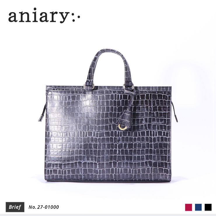 【aniary|アニアリ】Tint Embossing Leatherティントエンボシングレザー牛革 Brief ブリーフケース 27-01000 [送料無料]
