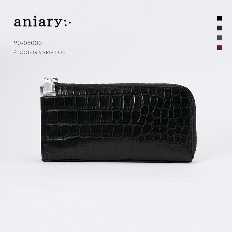 【aniary|アニアリ】Crocodile Leather クロコダイルレザー Clutch クラッチバッグ 90-08000 メンズ [送料無料]
