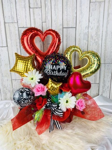お誕生日 迅速な対応で商品をお届け致します バースデー サプライズ 贈り物 新作入荷 お誕生日バルーンBOX