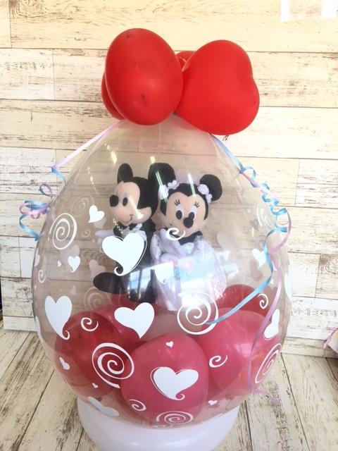 ミッキー&ミニーウエディングドールバルーンラップ