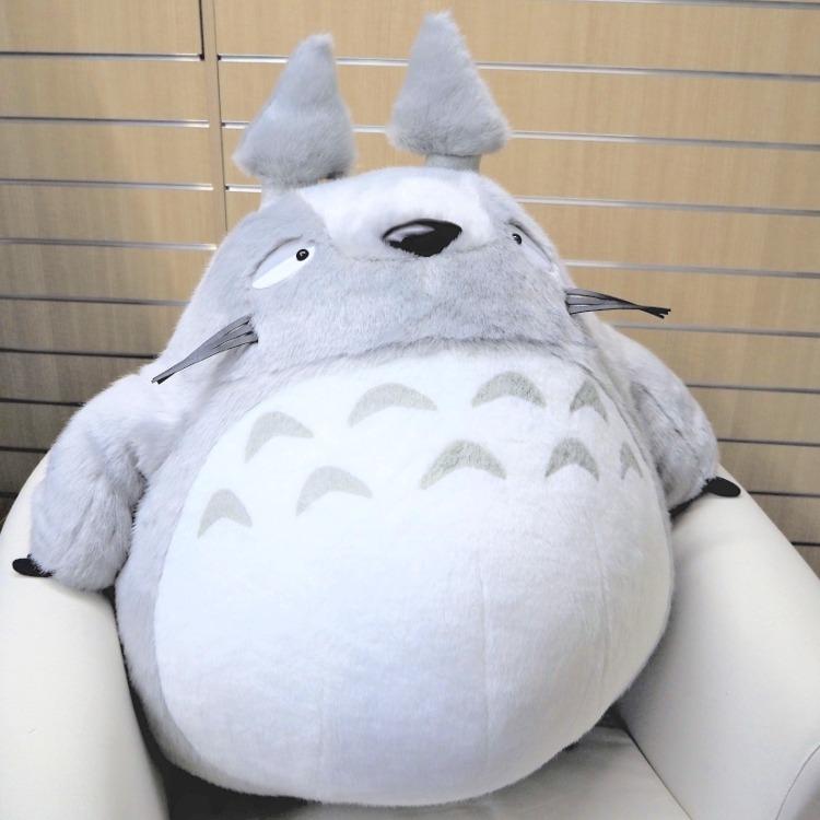 【ラッピング不可】【送料無料】 となりのトトロ お昼寝クッション 大トトロ グレー