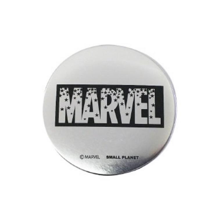マーベル 缶ミラー マーベルロゴ スター ブラック 442972