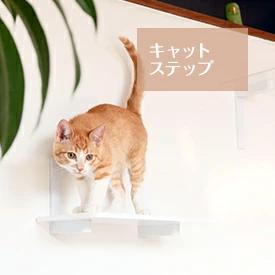 キャットタワー キャットステップ 日本製 猫タワー タワー キャットウォーク キャットステップ 猫 ねこ 多頭飼い 省スペース おしゃれ スリム 単品 DIY 壁 棚 クリア