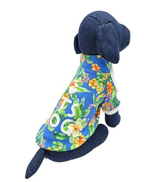 送料0円 ペットの健康的な毎日を支えるアニマルヘルスサポート ITS DOG JAPAN ゴーゴーアイドルジャージ L 犬の服 日本正規代理店品 ブルートロピカル