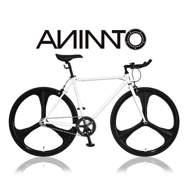 【ANIMATOアニマート】PHANTOM(ファントム) シングルスピード 自転車 ストリート スタイリッシュ 街乗り 3スポークピスト