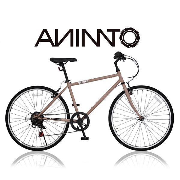通勤 【SHIMANO 7段変速】 700c (ヴィエント) おしゃれ スピード クロスバイク 街乗り VIENTO 【ANIMATOアニマート】 自転車 おすすめ スタイリッシュ