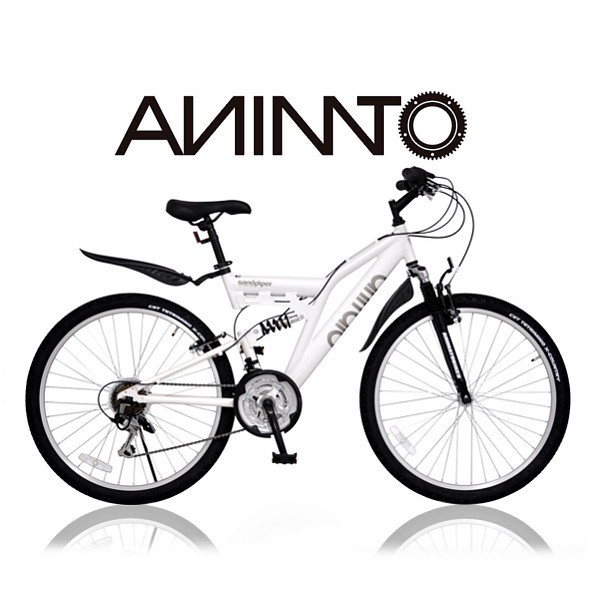 【ANIMATOアニマート】 MTB SANDPIPER(サンドパイパー) 26インチ マウンテンバイク Wサスペンション 街乗り 通勤 SHIMANO 18段変速 【軽量アルミフレーム】