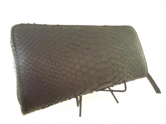 ANiSIE オリジナル 長財布 Black 開店記念セール 蛇 パイソン メーカー公式 10P03Sep16
