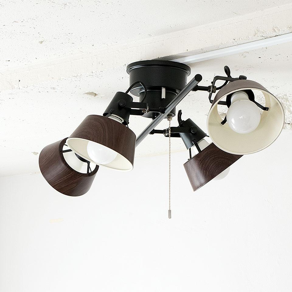 LED電球対応の圧迫感を抑えた薄型タイプのシーリングライト。間接照明と合わせて使えばおしゃれな空間に。西海岸インテリアや北欧テイストにぴったりな天井照明です。 シーリングライト ALTER(オールター) おしゃれ 照明 電気 ライト スポットライト 間接照明 西海岸 カリフォルニア 北欧 インダストリアル 男前 ブルックリン ダイニング【autumn_D1810】 LED電球 天井 照明器具 調光 led リビング 寝室 子供部屋 キッチン