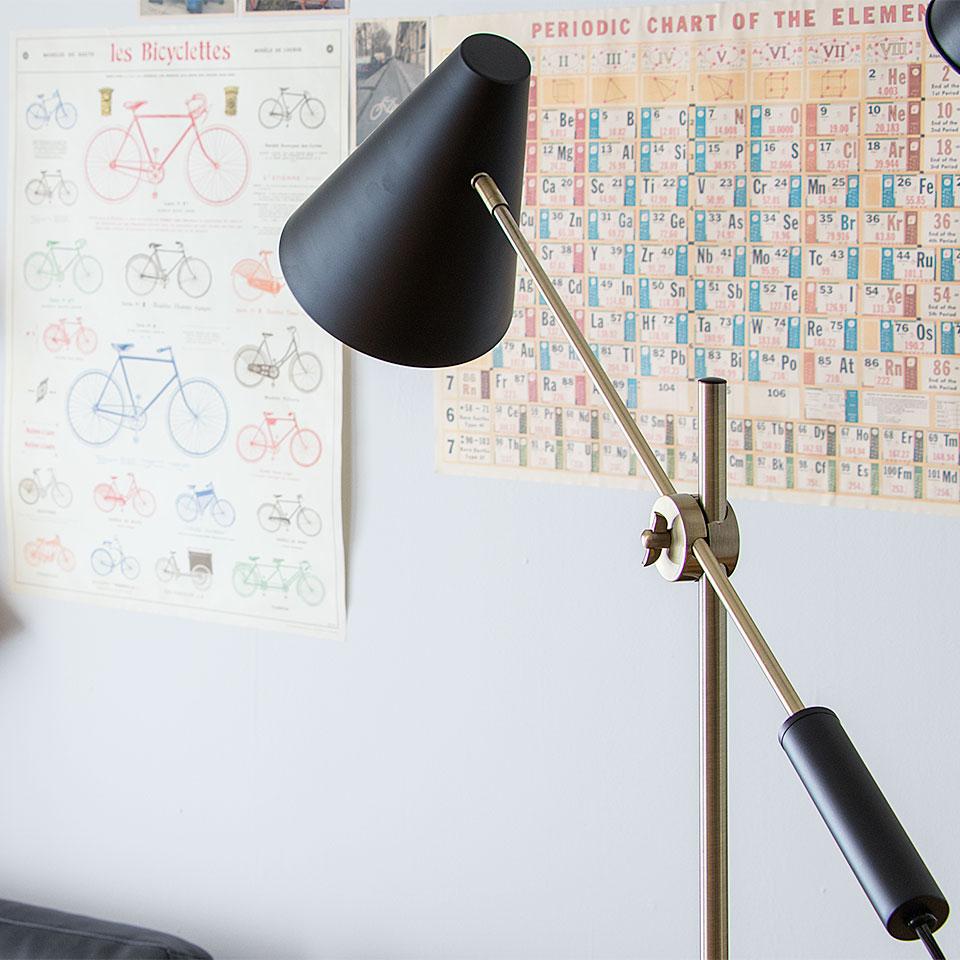 フロアライト 1灯 BROOK FLOOR(ブルック フロア) おしゃれ 照明 電気 ライト スタンド 間接照明 北欧 カフェ風 西海岸 かわいい ダイニング