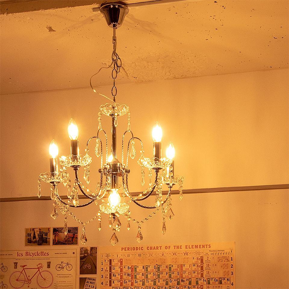 シャンデリア ペンダントライト 6灯 FEDERO(フェデロ) おしゃれ 照明 電気 ライト 間接照明 北欧 カフェ風 西海岸 かわいい 食卓用 ダイニング 【endsale_18】