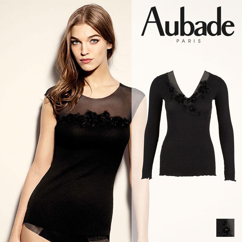 【50%OFF】フランス【Aubade】オーバドゥLES TOPS D'AUBADE(リトップオーバドゥ)ロングスリーブトップ(EE74)