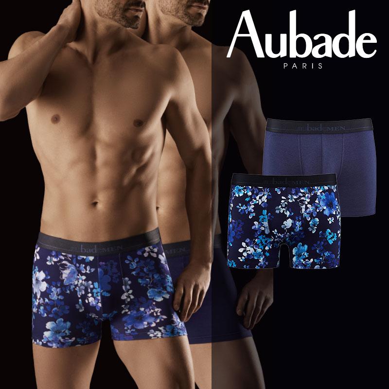 新作!【Aubade】オーバドゥAUBADE MENメンズボクサー Lazuli & NAVY BLUE カラー(XB53M)