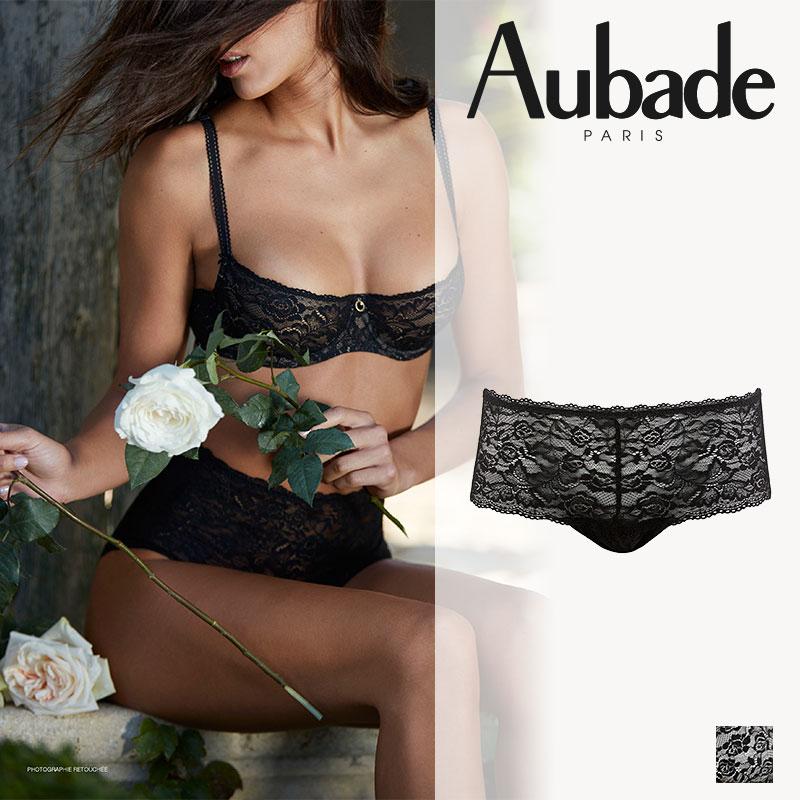 【Aubade】オーバドゥROSESSENCEローズエッセンスボクサーショーツ Blackカラー(HK70)ショーツ