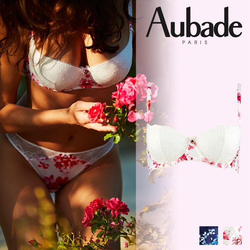 【30%オフ】フランス【Aubade】オーバドゥCHARME D'EDENシャルメディエンハーフカップブラ Clair De Eden(ピンク)カラー(HA14)