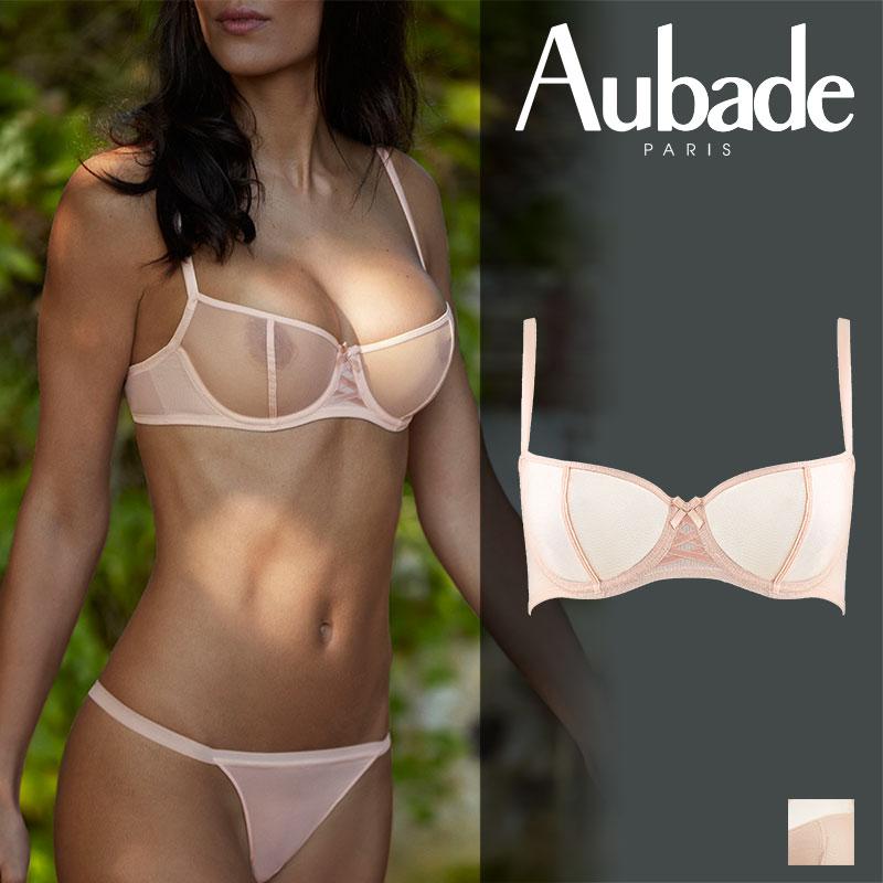 【新作】フランス【Aubade】オーバドゥNUDESSENCE(ヌードエッセンス)ハーフカップブラ Nude Eteカラー(FM14)