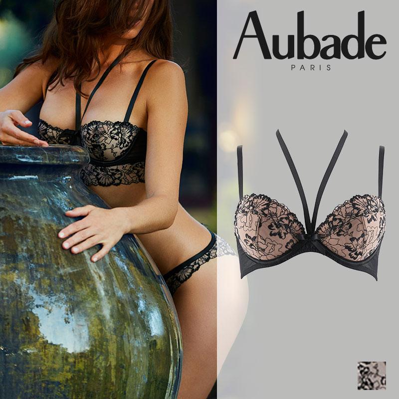 【50%オフ】【Aubade】オーバドゥREVERIE MALICIEUSEレヴィリィマリシュ―ダブルパデッドブラ NOIRカラー(HH18)