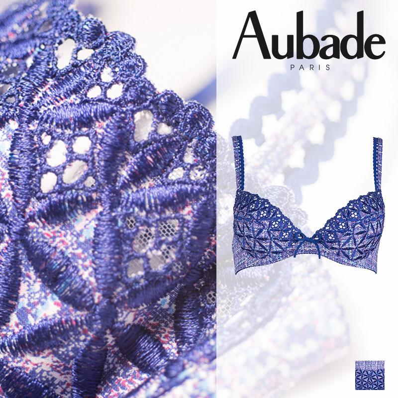 【20%オフ】新作登場!フランス【Aubade】オーバドゥ50 BAHIA ダブルパデッドブラ Tweedカラー(5018-9)
