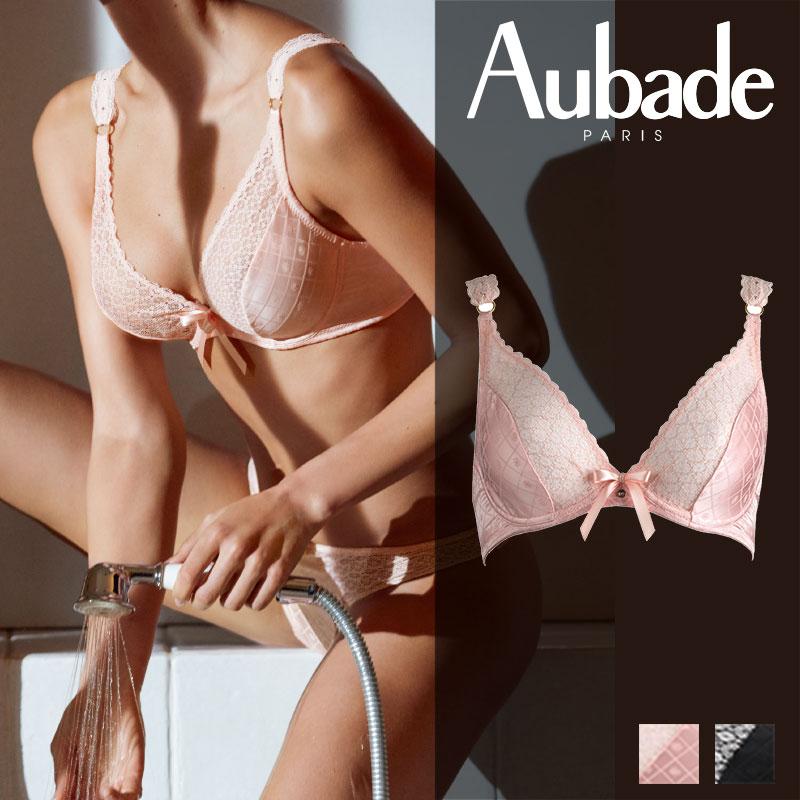 【20%オフ】新作登場!フランス【Aubade】オーバドゥFemme Aubade(フェム オーバドゥ)トライアングルプランジブラ BISCUITカラー(MC12)