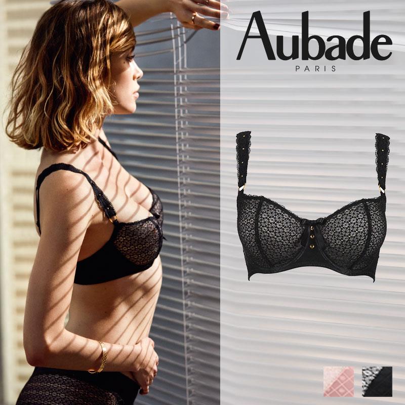 【20%オフ】新作登場!フランス【Aubade】オーバドゥFemme Aubade(フェム オーバドゥ)コンフォートハーフカップブラ(MC14e-02)