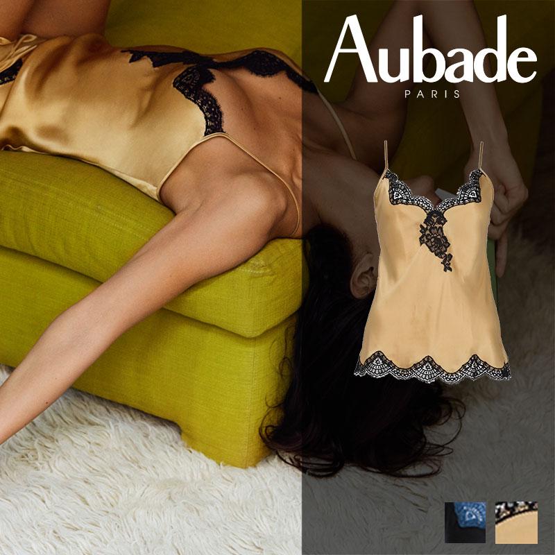 新作登場!フランス【Aubade】オーバドゥMS SOIE D' AMOUR キャミソール Or Noirカラー(MS38)