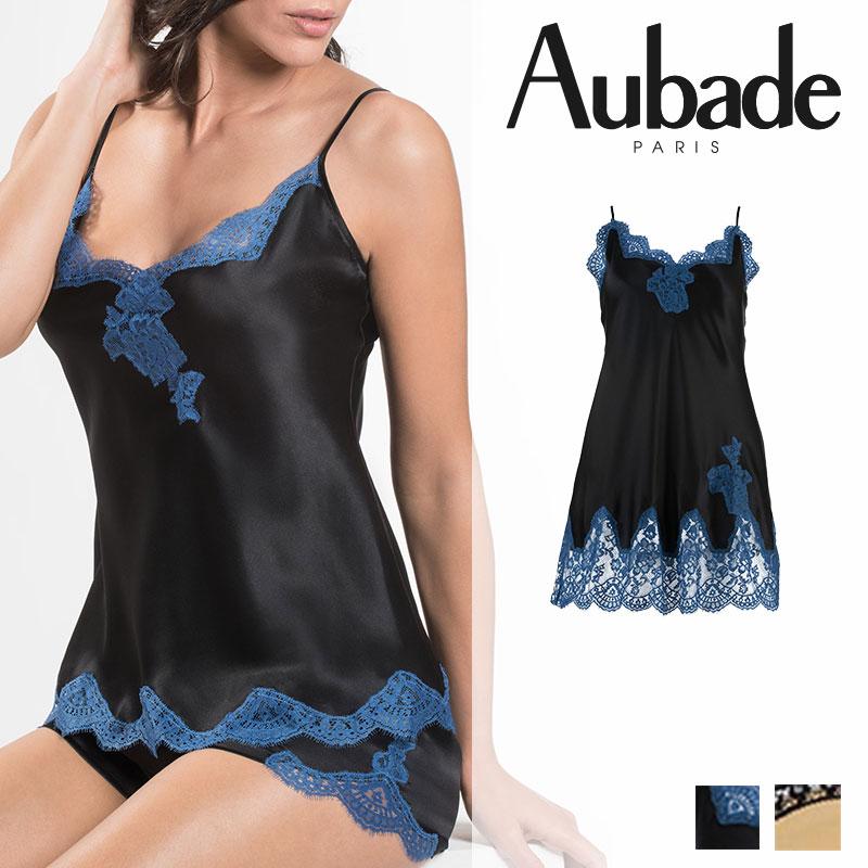 【新作】フランス【Aubade】オーバドゥMS SOIE D' AMOUR ベビードール Blue Velvetカラー(MS42)