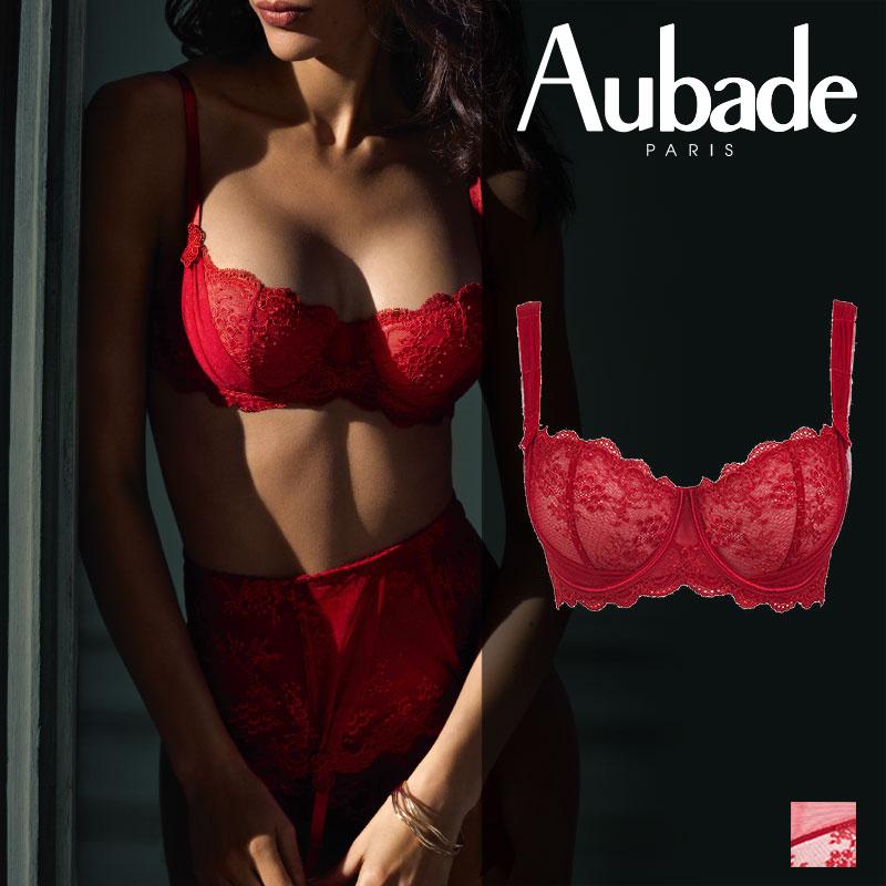 新作登場!フランス【Aubade】オーバドゥDA AUBADE A L'AMOUR コンフォートハーフカップブラ Rouge Darlingカラー(DA14-2)