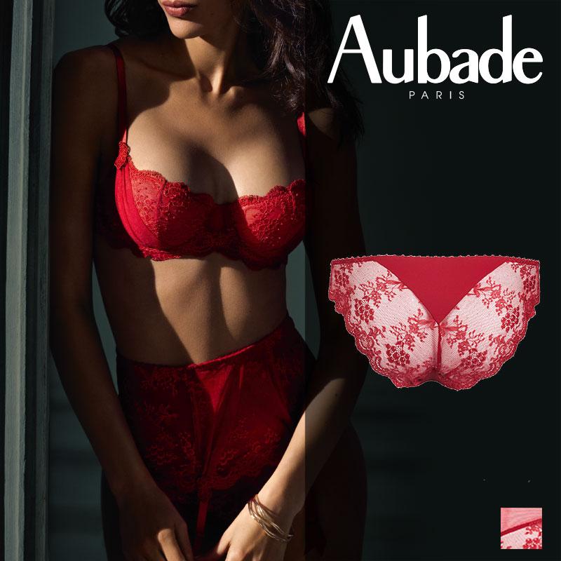 新作登場!フランス【Aubade】オーバドゥDA AUBADE A L'AMOUR イタリアンショーツ Rouge Darlingカラー(DA27)