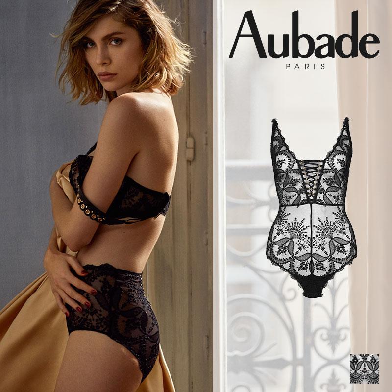 新作登場!フランス【Aubade】オーバドゥME FEMME SENSUELLE ボディ Blackカラー(ME86)
