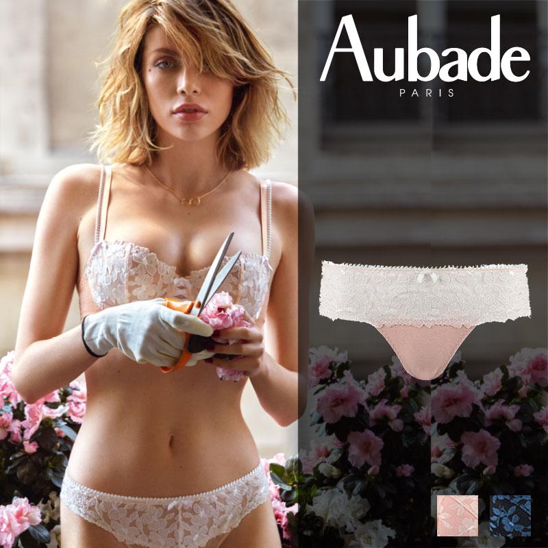 新作登場!フランス【Aubade】オーバドゥMJ FEMME Charmeuse ホットタンガ Rose Dustカラー(MJ71)