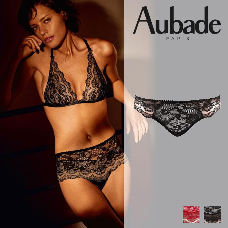 新作登場!フランス【Aubade】オーバドゥND Soliel Nocturne タンガ Noir カラー(ND26)