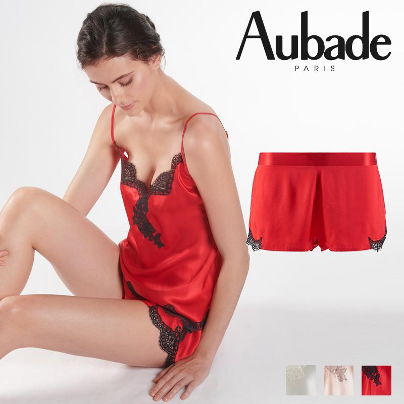 新作登場!フランス【Aubade】オーバドゥMS Soie d'Amour キュロット Rouge Passion カラー (MS61)