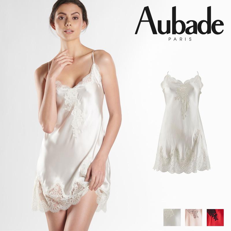 新作登場!フランス【Aubade】オーバドゥMS Soie d'Amour ナイティ Nacre カラー (MS40)