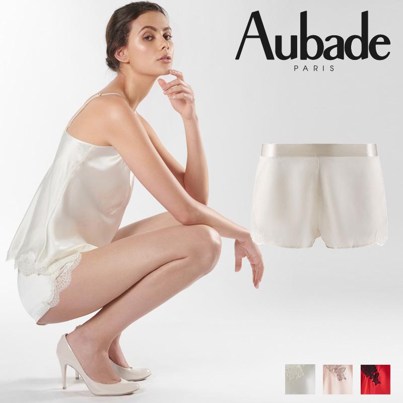 新作登場!フランス【Aubade】オーバドゥMS Soie d'Amour キュロット Nacre カラー (MS61)