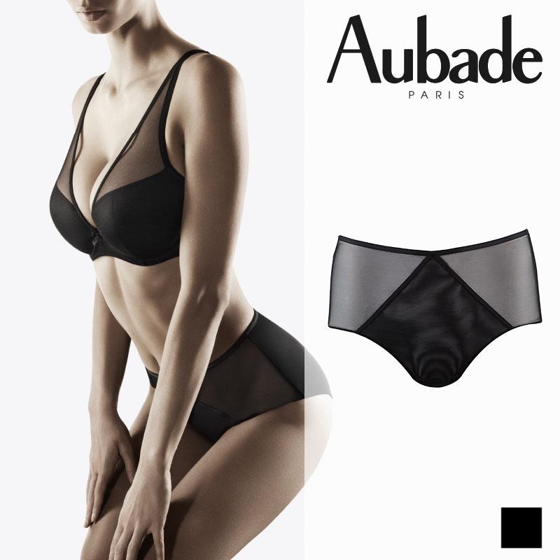 【Aubade】オーバドゥNUDEESSENCE(ヌードエッセンス)ハイウエストショーツ Blackカラー(FM24)