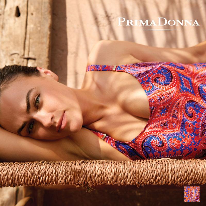 予約【Prima Donna】プリマドンナ スイムウエア CASABLANCA ワンピース(400-6438) Blue Spiceカラー