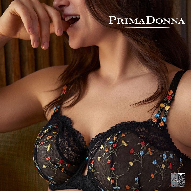 【Prima Donna】MIDNIGHT GARDEN ワイヤーブラ CDEカップ Blackカラー(016-3140)