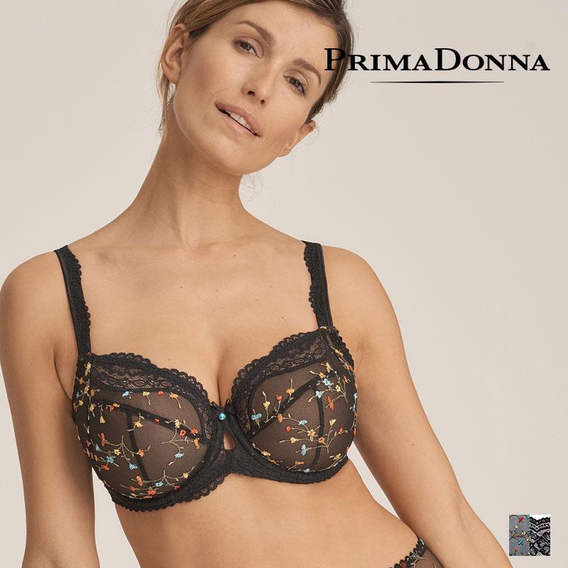 【Prima Donna】MIDNIGHT GARDEN ワイヤーブラ FGHカップ Blackカラー(016-3141)