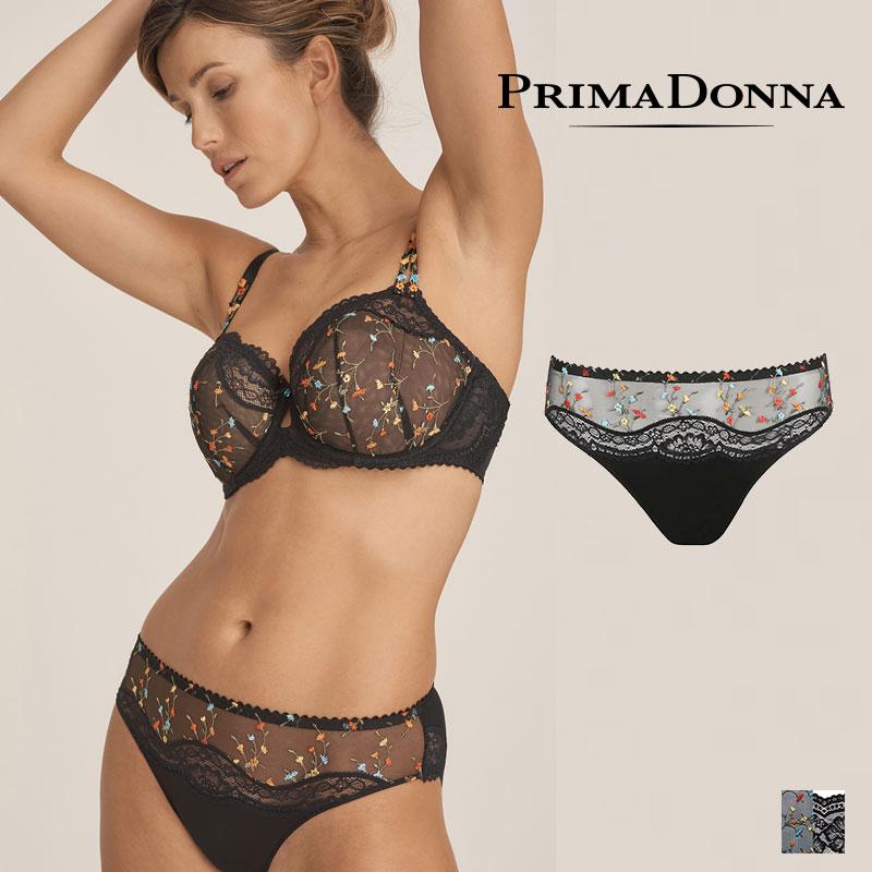 【Prima Donna】MIDNIGHT GARDEN ブラジリアンショーツ Blackカラー(056-3140)