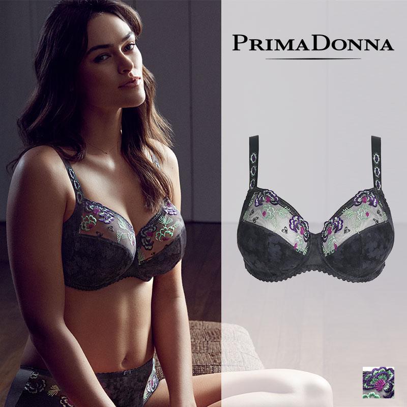 【50%オフ】老舗ランジェリーブランド【Prima Donna】MADAM BUTTERFLY gris grisカラーワイヤーブラF~Iカップ016-2731